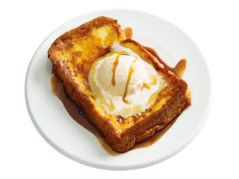 画像: 6枚切りのイギリスパンで アイスクリームフレンチトースト