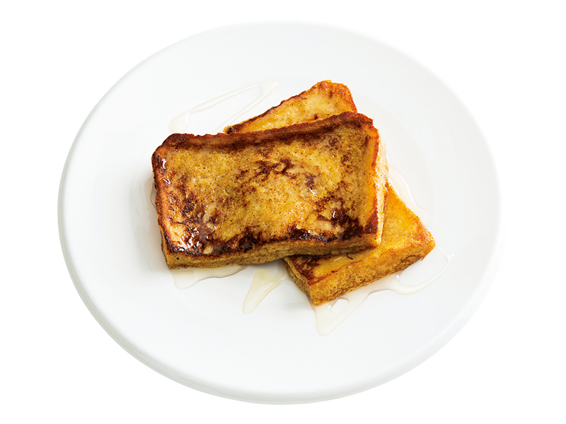 画像: 8枚切り食パンで チャイ風フレンチトースト