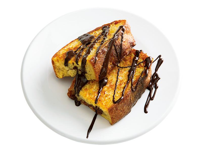 画像: カンパーニュで チョコレートフレンチトースト