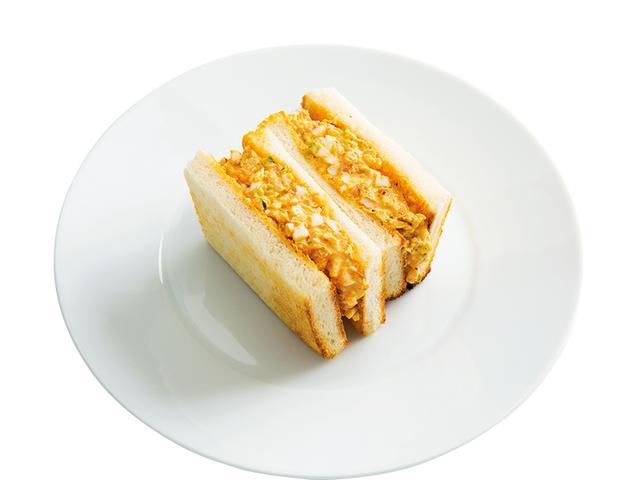 画像: 8枚切り食パン2枚で キムチマヨの玉子サンド