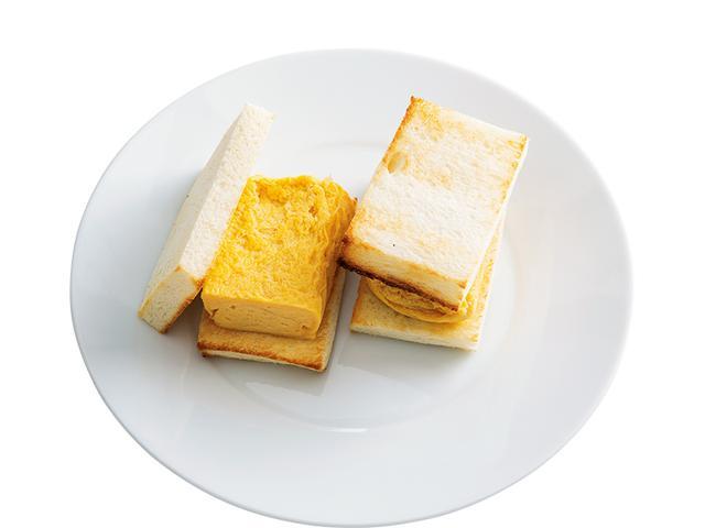 画像: 8枚切り食パン2枚で だし巻き玉子サンド
