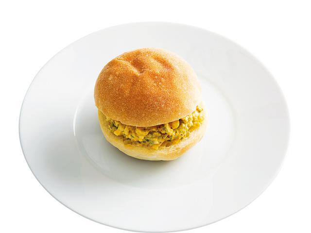 画像: 丸パンで 和風玉子サンド