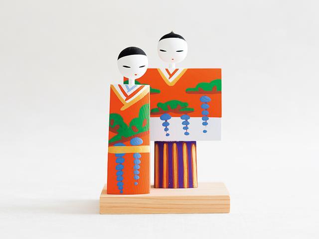 画像: 鳥取 木工立ち雛