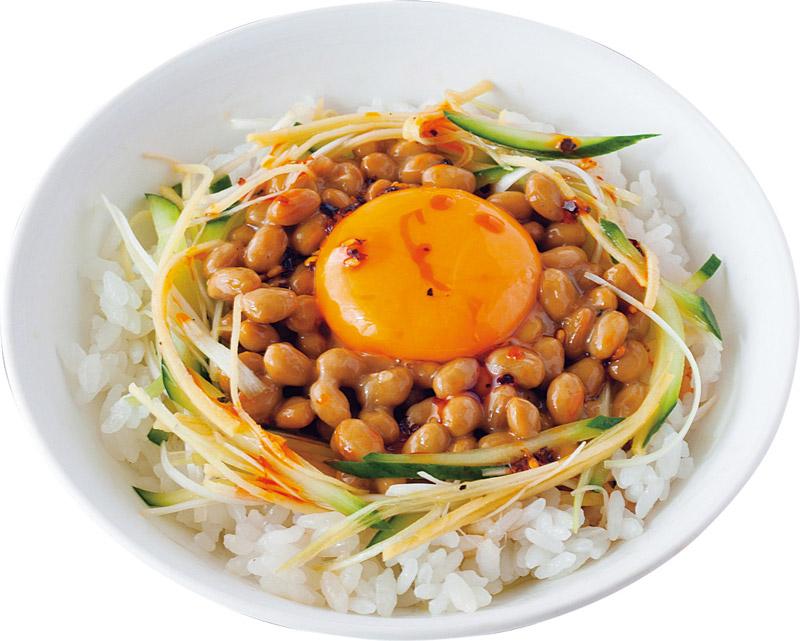 画像: せん切り薬味納豆丼