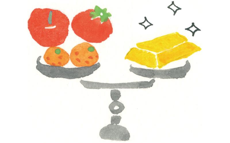 画像: 朝の果物は金