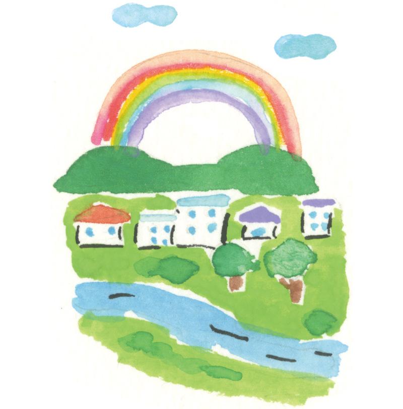 画像: 朝虹に川超すな