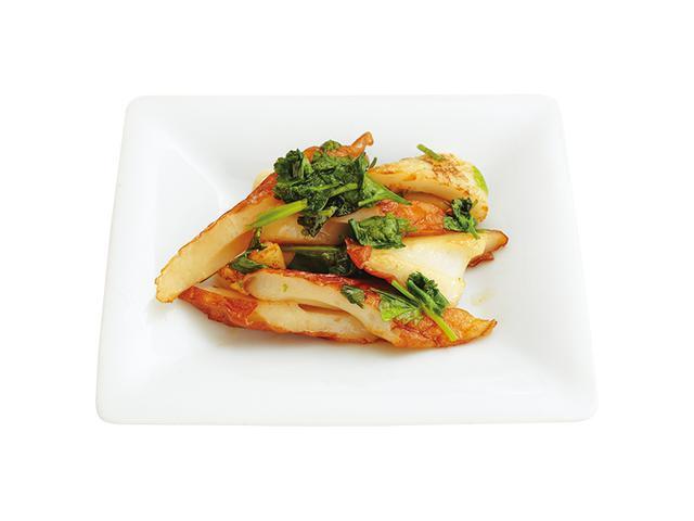 画像: ちくわの香菜、バジルしょうゆ炒め
