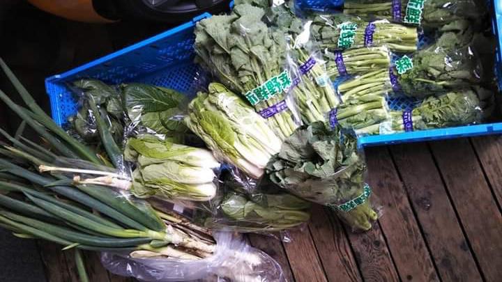 画像: 左から、千住葱・後関晩生小松菜・しんとり菜・のらぼう菜。いずれも、東京で伝統的につくられてきた「江戸東京野菜」