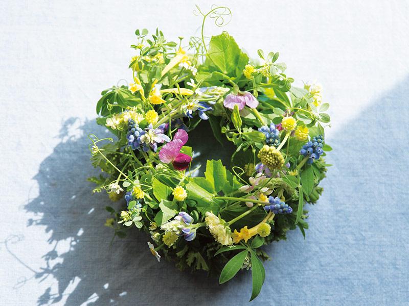 画像: 花摘みのリース