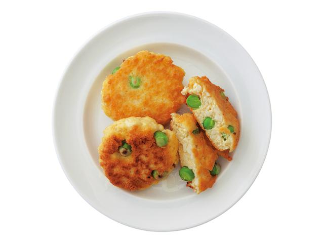 画像1: アレンジ④ グリーンピースの豆腐つくね