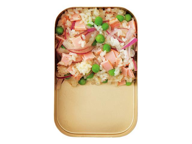 画像: グリーンピースとハムのサラダごはん
