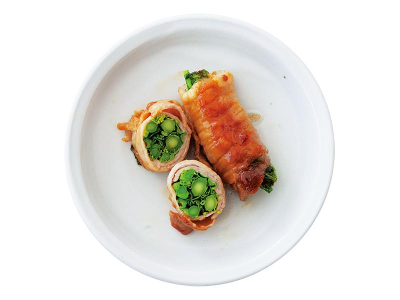 画像1: アレンジ④ 豚の菜の花巻き照り焼き