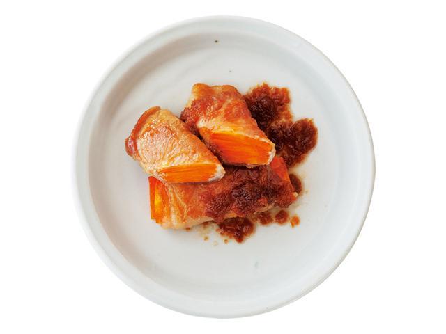 画像: アレンジ③ にんじん巻きのしょうが焼き