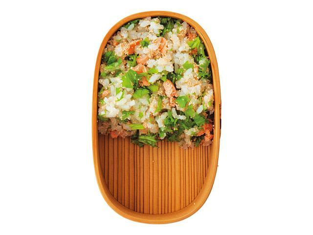 画像: 焼きたらことわさび菜の混ぜごはん