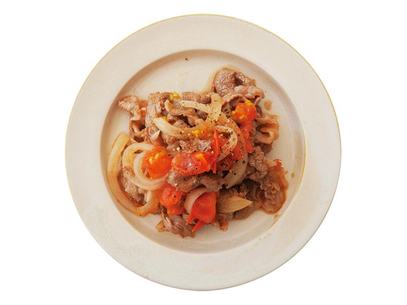 画像: アレンジ① トマトマリネの牛焼き肉