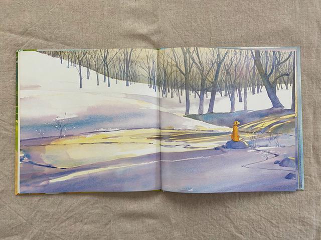 画像: 広い雪原にぽつんと……。