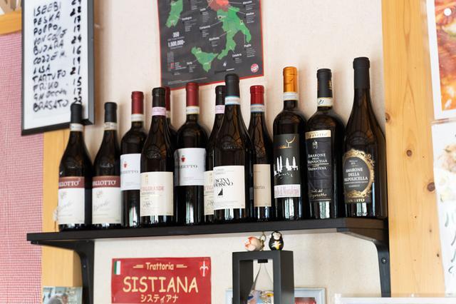 画像: 北イタリアの貴重なワインが揃っている。