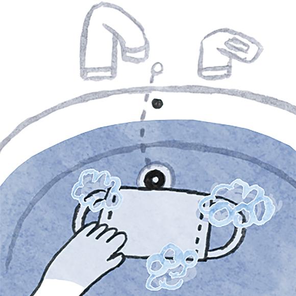 画像: 3 ぬるま湯でにごらなくなるまですすぐ