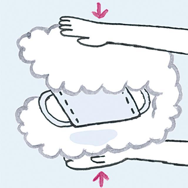 画像: 5 タオルで挟んで水けをきる