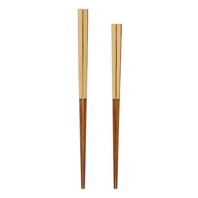 画像: B ヤマチク うるし白竹箸セット 1名
