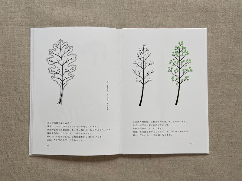 画像: 葉っぱの葉脈のような姿をした木も。木にはいろいろな種類がありますからね。