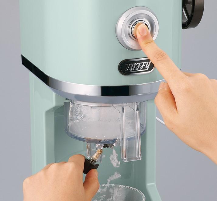 画像: ふわふわ、さらさら、シャリシャリなど、氷の削り具合を無段階で調節可能