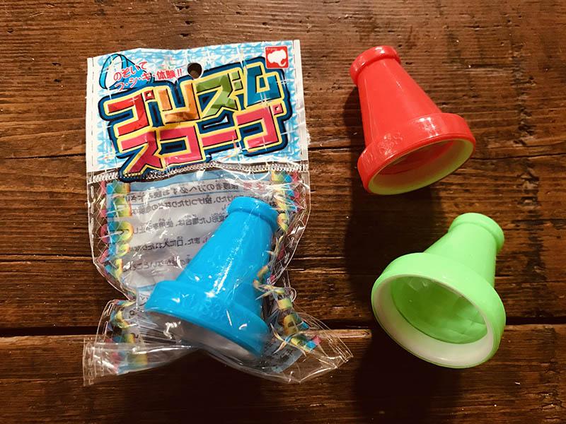 画像: おもちゃのプリズムスコープ。小さな頃、駄菓子屋さんで見たことのあるこのレンズをどうしても付けたくて、ネットで必死に探しました