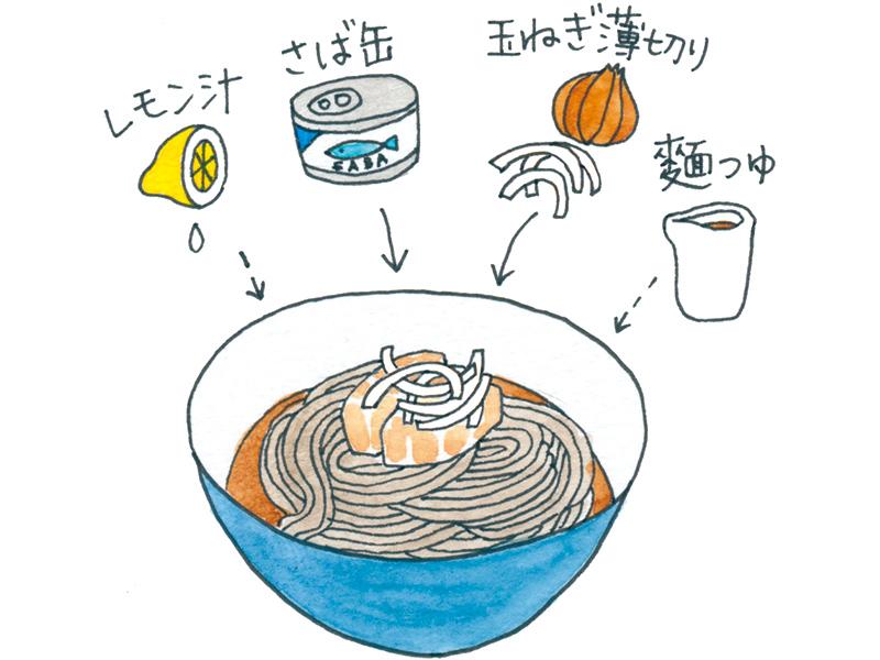 画像: さば缶は麵つゆと好相性。レモン汁が隠し味