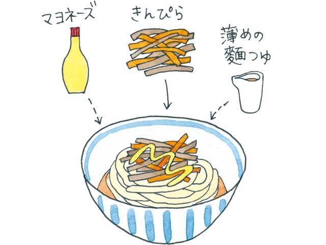 画像: きんぴら&マヨで甘辛のサラダ麵