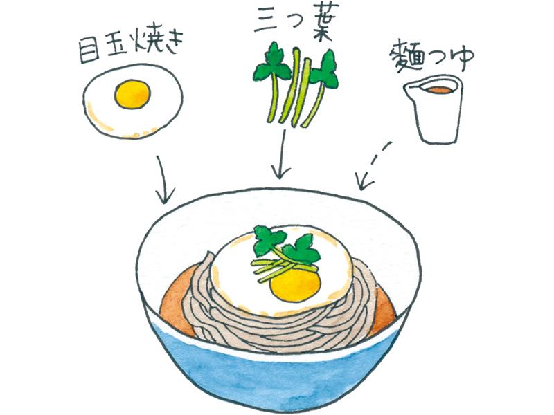 画像: 半熟の目玉焼きを麵にとろりとからめて