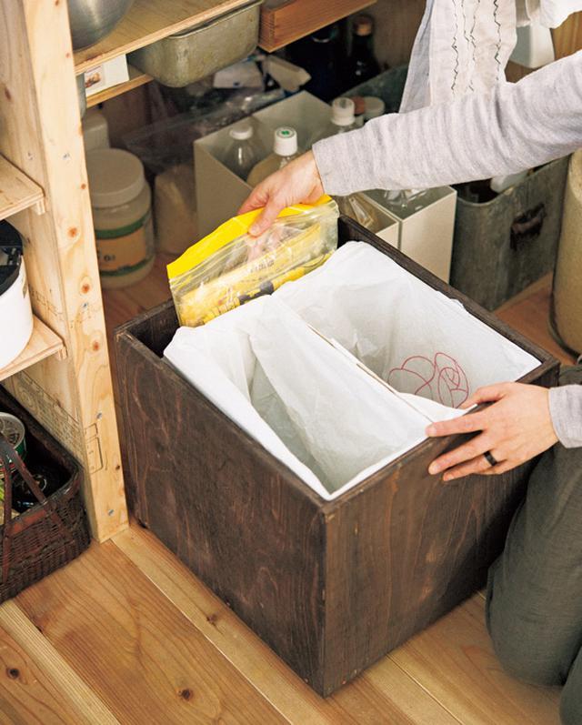 画像: アンティーク風で機能的な、ごみ箱