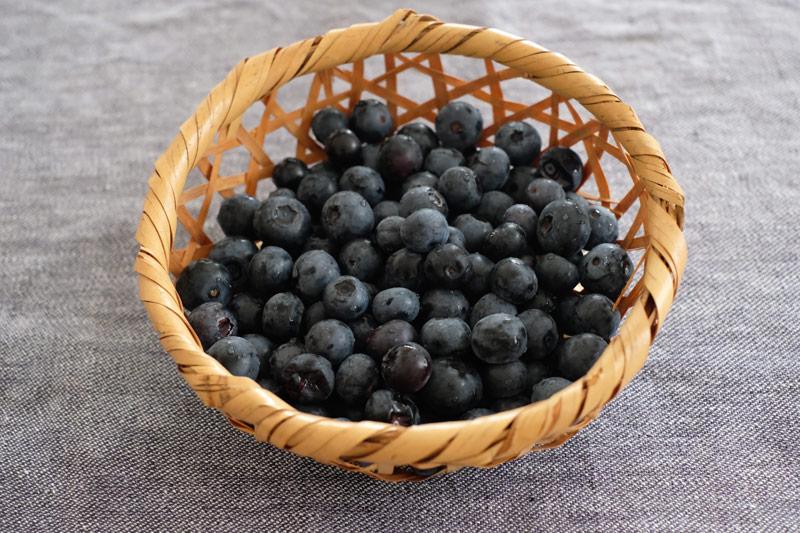 画像: 川戸農園からお持ち帰りしたブルーベリー。実がとっても大きい!