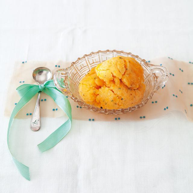 画像: バナナとオレンジ ローズマリーのシャーベットのつくり方