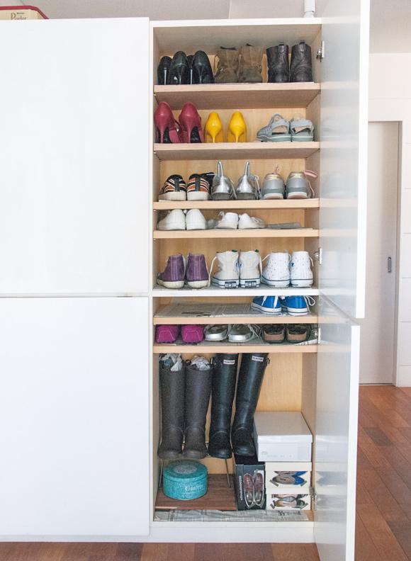画像: 使う頻度で靴をレイアウト