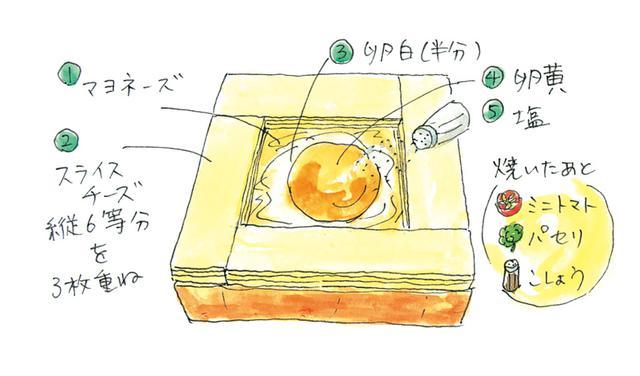 画像: 目玉焼きトーストのつくり方