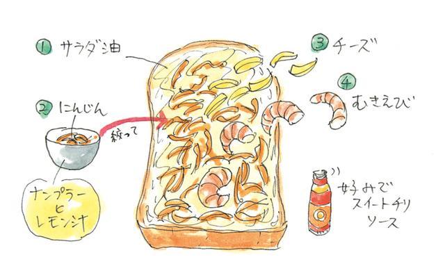 画像: 山盛りにんじんのチーズトーストのつくり方