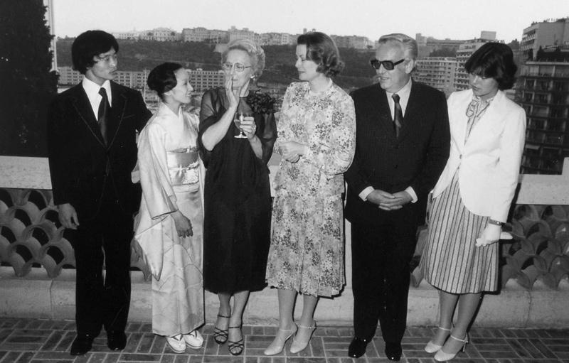 画像: いつも見守ってくださったモナコ公国・グレース妃と。1975年、文化庁芸術家在外研修員としてモナコに滞在