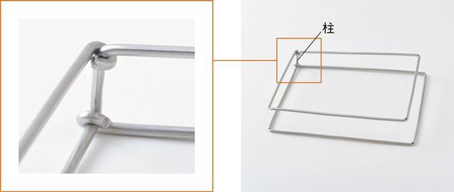 画像: 柱の固定は、段差ができないよう、写真のように角度をつけて、取り付ける