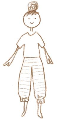 画像1: カットソーの部屋着「しましまリブパンツ」のつくり方 ミルツルの手づくり