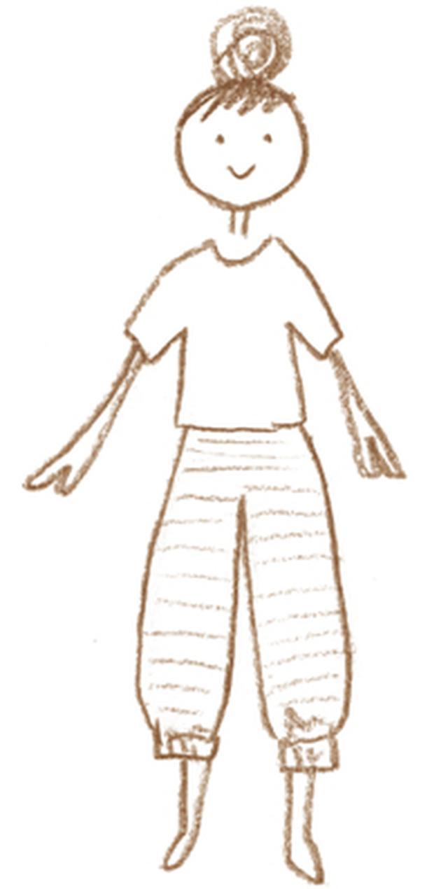 画像1: カットソーの部屋着「しましまリブパンツ」のつくり方|ミルツルの手づくり