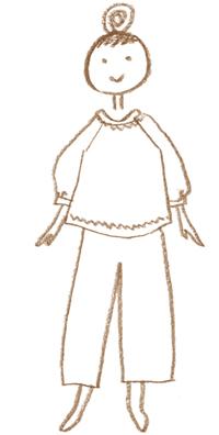 画像1: カットソーの部屋着「ゆったりTシャツ」のつくり方|ミルツルの手づくり