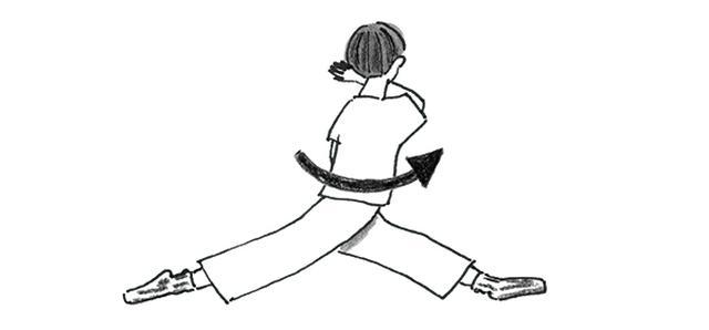 画像3: 開脚で
