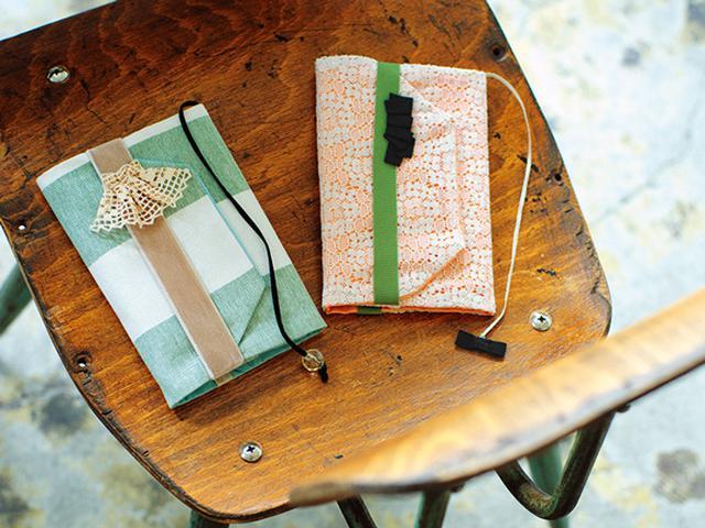 画像: How to make 「布のブックカバーとしおり」のつくり方