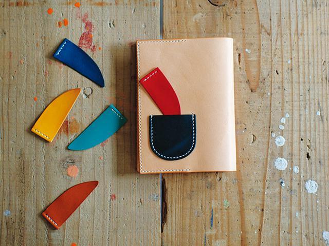 画像: How to make 「革のブックカバーとしおり」のつくり方