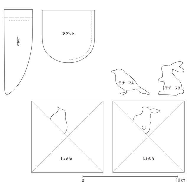 画像: 【型紙】「革と紙のブックカバーとしおり」実物大の型紙 - 天然生活web