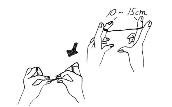 画像1: フロスで歯と歯の間をみがく