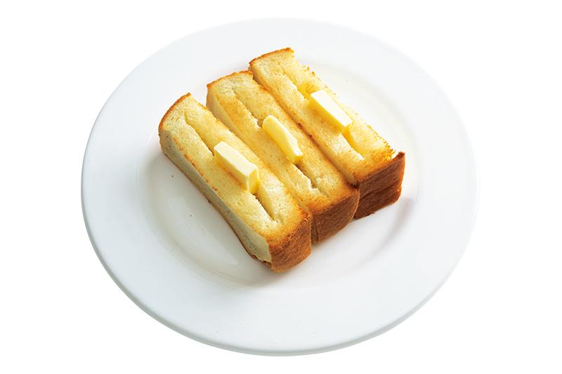 画像: バターはぬるのではなく、具として食べる! ポケット状にしてトーストした熱々パンにバター。溶けきらないうちに食べきって