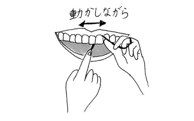 画像2: フロスで歯と歯の間をみがく