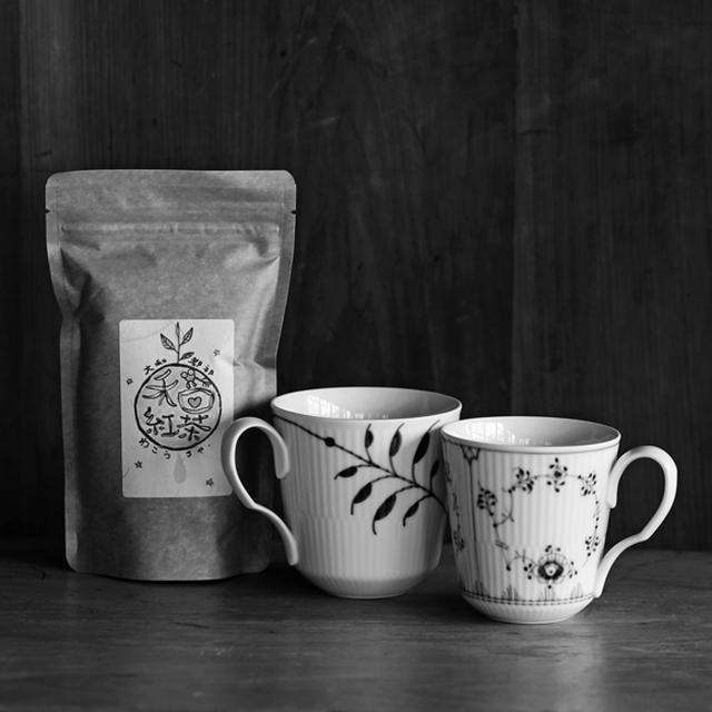 画像: ロイヤルコペンハーゲンの夫婦カップで「健一自然農園」の和紅茶を