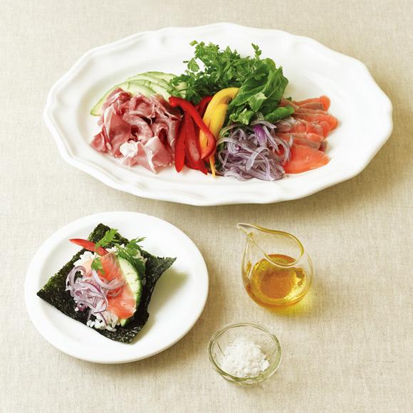 画像: 洋風手巻き寿司のつくり方